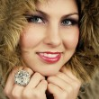 Girl in fur — Stock Photo