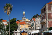Ancient street on island of Hvar — Stock Photo