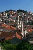 Ancient city square on island of Hvar, Croatia (vertical) — Stock Photo