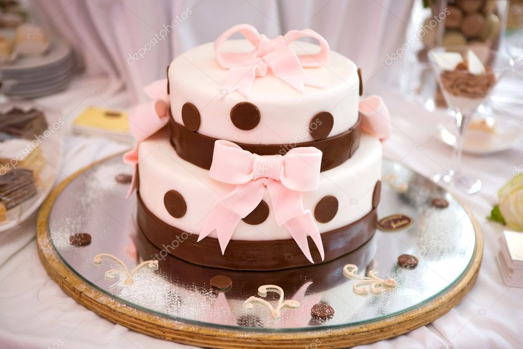 Wedding cake with bows  Stock Photo #1843470