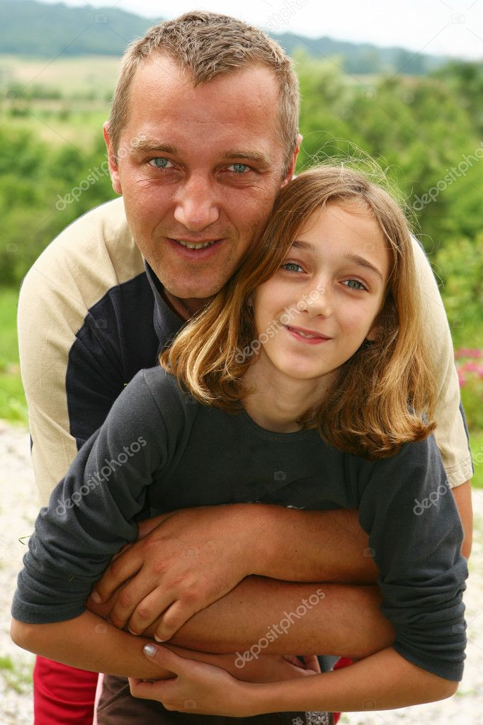 Father and daughter in a hug  Stock Photo #2352426