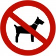 No dogs allowed — Stock Photo