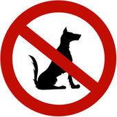 Restricted for dogs — Stock Photo