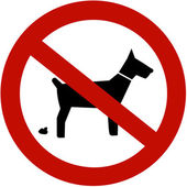 No dogs pooping allowed — Stock Photo