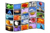 Color monitors - flag — Stock Photo