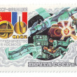 USSR cooperation in space, postage — Stock Photo