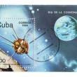 Cuba, postage, cosmonautics — Stock Photo