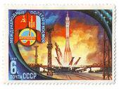 International flights into space, USSR — Stock Photo