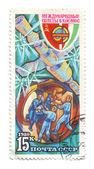 Sovjet-unie, india, samenwerking in de ruimte — Stockfoto