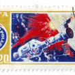 Picture of cosmonaut Leonov, postage — Stock Photo