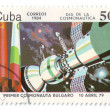 Stock Photo: Cuba, postage, rocket, 1984