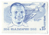 Y.A. Gagarin, Soviet cosmonaut. Postage — Stock Photo