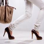 ben och väska — Stockfoto