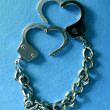 Metal handcuffs — Stock Photo #1755432