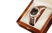 Wristwatch in box — Stock Photo
