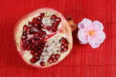 Slice of pomegranate — Stock Photo