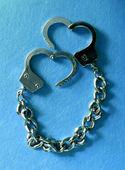 Metal handcuffs — Stock Photo