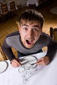 Homem com fome — Fotografia Stock