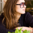 Young woman in cafe — Stock Photo #1764694