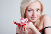 Rosy orchid — Stock Photo