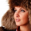 Woman in fur cap — Stock Photo #1823302