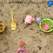Toys in sandbox — Stock Photo #1823495