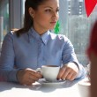 Woman in cafe — Stock Photo #1823554