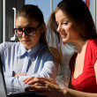Two women with laptop — Stock Photo #1823646