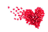 Heart from pomegranate — Stock Photo