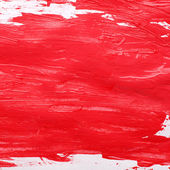 Red gouache background — Stock Photo