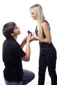 Proposal of marriage — Stock Photo