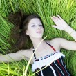 Woman in grass — Stock Photo #2343325