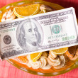 Paper money and sweets — Stock Photo #2343653