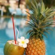 Royalty-Free Stock Photo: Coconut and pineapple