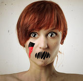 Horror woman — Stock Photo