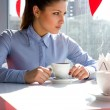 Woman in cafe — Stock Photo #2498674