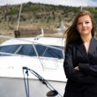 Stock Photo: Woman and boat