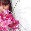 Bride with bouquet — Stock Photo #2575422