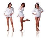 Tre sjuksköterskor — Stockfoto