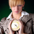 Royalty-Free Stock Photo: Woman with alarm clock