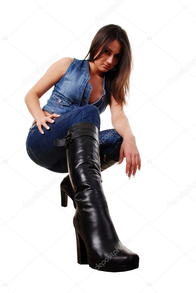 Woman in leather boots — Stock Photo © Dmitroza #2587761