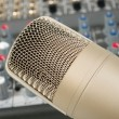 Royalty-Free Stock Photo: Studio microphone on the audio control c