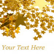 Golden stars isolated on white backgroun — Stockfoto