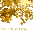 Stok fotoğraf: Golden stars isolated on white backgroun