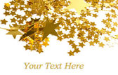 Golden stars isolated on white backgroun — Stock Photo