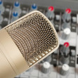 Stock Photo: Studio microphone on audio control c