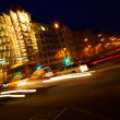 Foto de Stock  : Traffic lights. Motion blur