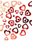 Valentine hearts background — Foto de Stock