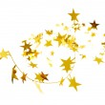 Złote gwiazdy na białym tle na biały deseń — Zdjęcie stockowe