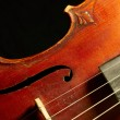 Part of vintage violin — Stock Photo